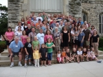Group photo at the Chapel, Cornell College 6-20-09